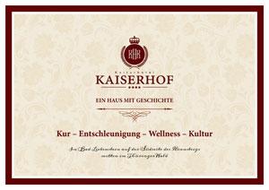 Hotel Kaiserhof in Bad Liebenstein :: Entschleunigen, Wellness, Kur